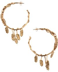 Aurelie Bidermann - Wheat 18k Gold-plated Hoop Earrings - Lyst