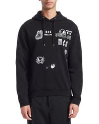 McQ - Monster Embroidered Hoodie - Lyst
