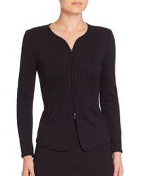 Armani | Milano Jersey Zipped Jacket | Lyst