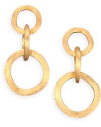 Marco Bicego - Jaipur Link 18k Yellow Gold Drop Earrings - Lyst