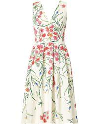 8f2743bd9eb0f Carolina Herrera - Women's Floral Sleeveless Dress - White Multi - Size 12  - Lyst
