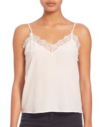 The Kooples - Silk & Lace Camisole - Lyst