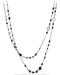 David Yurman - Dy Elements Chain Necklace With Black Onyx And Hematine - Lyst