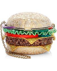 Judith Leiber - Hamburger Crystal Clutch Bag - Lyst