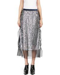 Sacai - Sequin Organza Skirt - Lyst