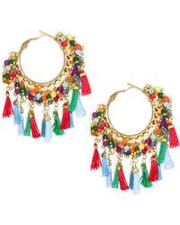 Rosantica - Allegria Fringe Multicolor Hoop Earrings - Lyst