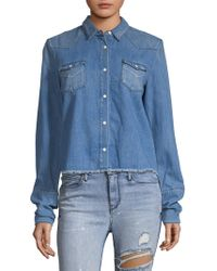 RTA - Ashley Denim Shirt - Lyst