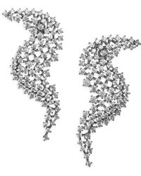 Adriana Orsini - Leia Wave Drop Swarovski Crystal Earrings - Lyst