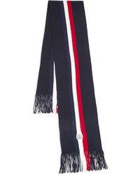 Moncler - Striped Virgin Wool Scarf - Lyst