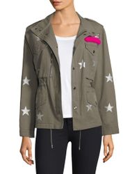Jocelyn - Printed Washed Twill Field Jacket - Lyst