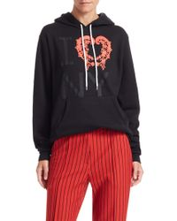 Rosie Assoulin - Flocked I Love Ny Cotton Hoodie - Lyst
