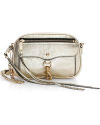 Rebecca Minkoff - Blythe Distressed Metallic Leather Crossbody Bag - Lyst