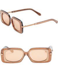 Karen Walker - 51mm Mr. Binnacle Tobacco Glitter Sunglasses - Lyst