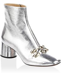 Marc Jacobs - Remi Chain Link Leather Booties - Lyst