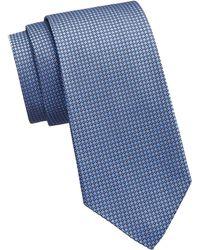 Ralph Lauren Purple Label - Blue Bond Silk Geometric Tie - Lyst