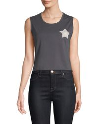 Sandrine Rose - Own Your World Malibu Death Valley Cropped Tank Top - Lyst