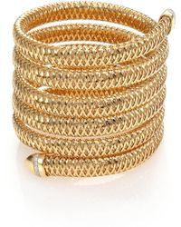 Roberto Coin - Primavera Diamond & 18k Yellow Gold Six-row Wrap Bracelet - Lyst