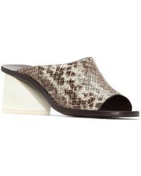 MERCEDES CASTILLO - Izar Leather Slide Sandals - Lyst