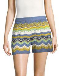 M Missoni - Wave Crochet Shorts - Lyst