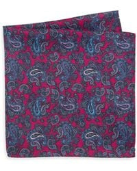Saks Fifth Avenue - Collection Silk Polka Dot & Paisley Pocket Scarf - Lyst