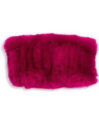 Surell - Kid's Rex Rabbit Fur Infinity Scarf - Lyst