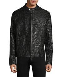 John Varvatos   Zipper Closure Leather Jacket   Lyst