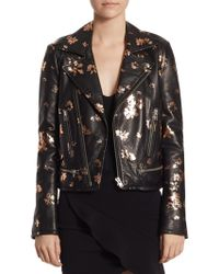 IRO - Phedra Painted Leather Jacket - Lyst