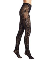 Natori - Feather Lace Net Tights - Lyst