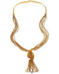 Aurelie Bidermann - Miki Knotted Long Necklace - Lyst