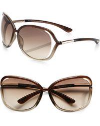 Tom Ford - Raquel 68mm Oversized Sunglasses - Lyst