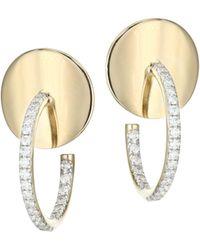 Phillips House - 14k Yellow Gold & Diamond Mini Hoop Earrings - Lyst