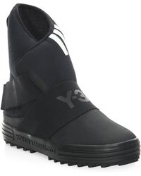 Y-3 - New Snow Round Toe Boots - Lyst