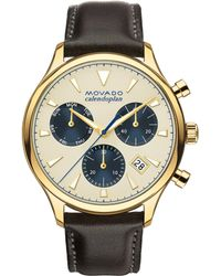Movado - Heritage Gold Ion-plated Stainless Steel Watch - Lyst
