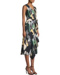 Lafayette 148 New York - Printed Belted Dress - Lyst