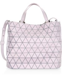 c40cbf563f Bao Bao Issey Miyake Matte White Lucent Matte Medium Tote in White ...