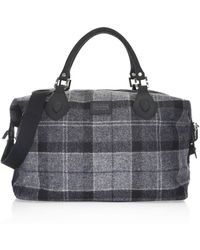 Barbour - Shadow Tartan Explorer Duffel Bag - Lyst