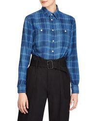 Polo Ralph Lauren - Plaid Button-down Workshirt - Lyst