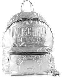 Moschino - Embossed Teddy Bear Logo Backpack - Lyst