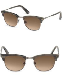 Web - 51mm Square Horn Effect Sunglasses - Lyst