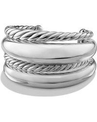 David Yurman - Pure Form Four-row Bracelet In Sterling Silver - Lyst
