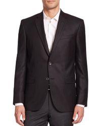 Saks Fifth Avenue - Cashmere-silk Striped Blazer - Lyst