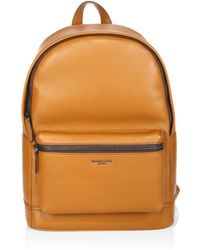 f5e0a1e8108f7 Lyst - Michael Kors Odin Leather Backpack in Brown for Men