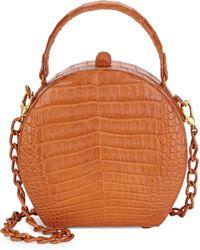 Nancy Gonzalez Billie Crocodile Box Bag - Brown