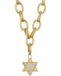 Roberto Coin - 18k Gold & Diamond Star Of David Pendant - Lyst