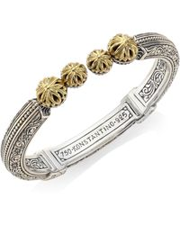 Konstantino | Gaia Etched Hinged Bangle | Lyst