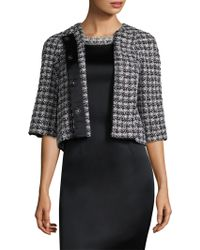 St. John - 3/4-sleeve Soft Plaid Jacket - Lyst