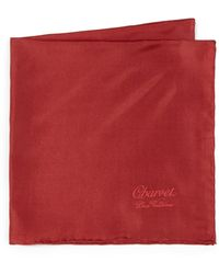 Charvet - Solid Silk Pocket Square - Lyst
