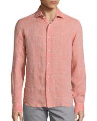 Saks Fifth Avenue - Solid Linen Shirt - Lyst