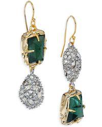 Alexis Bittar | Elements Green Amethyst, Pyrite Doublet & Crystal Drop Earrings | Lyst