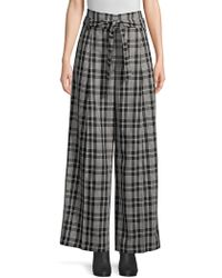 Weekend by Maxmara - Cina Plaid Wide Leg Trousers - Lyst